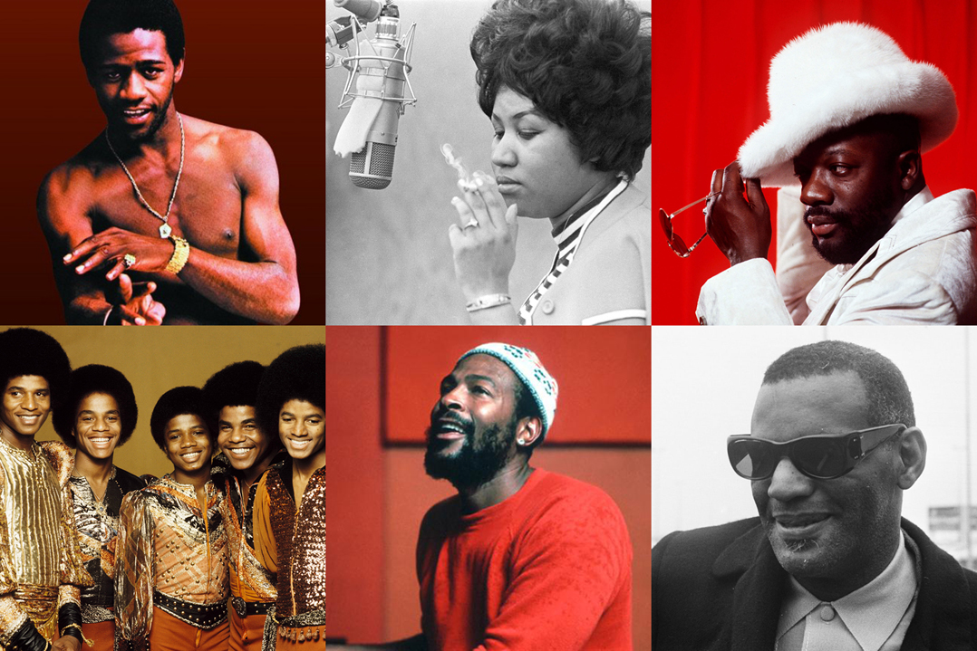 Al Green, Aretha Franklin, Isaac Hayes, The Jackson 5, Marvin Gaye, Ray Charles